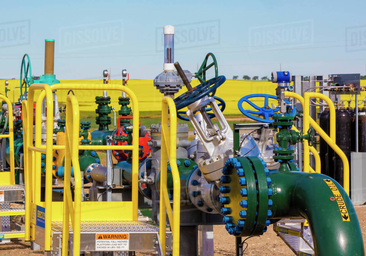 Gas Compression Station in North Dakota Royalty-free stock photo