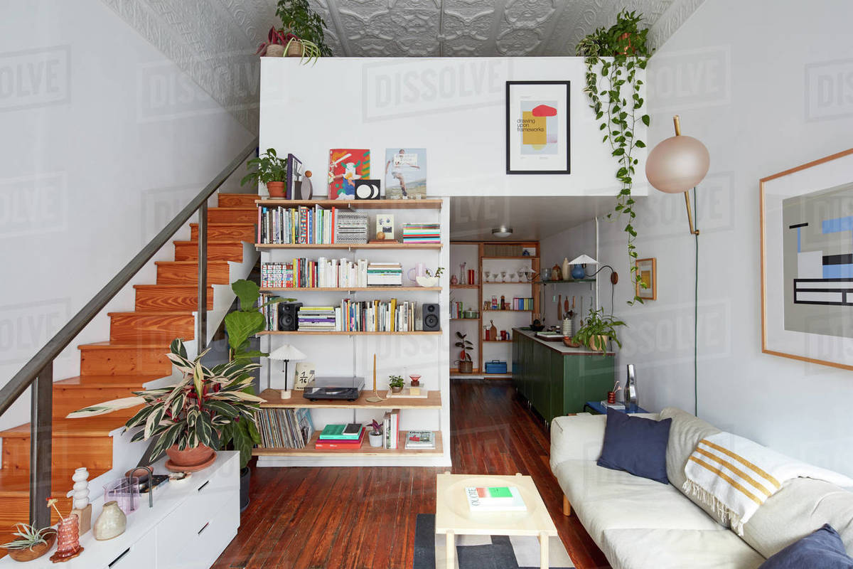 Interior of eclectic designer's loft Royalty-free stock photo