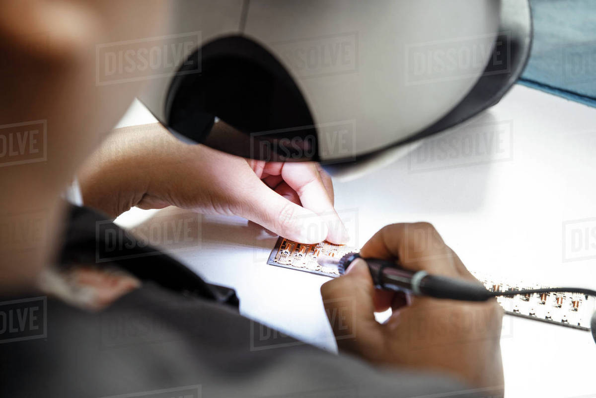 Cropped Image Of Technician Making Circuit Board In Industry Stock Boards Popular