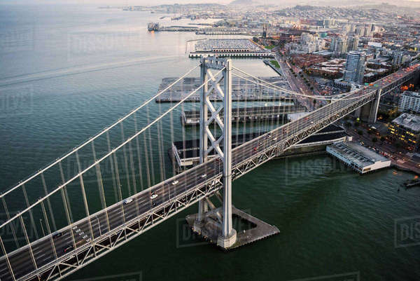 Aerial view of Bay Bridge Royalty-free stock photo