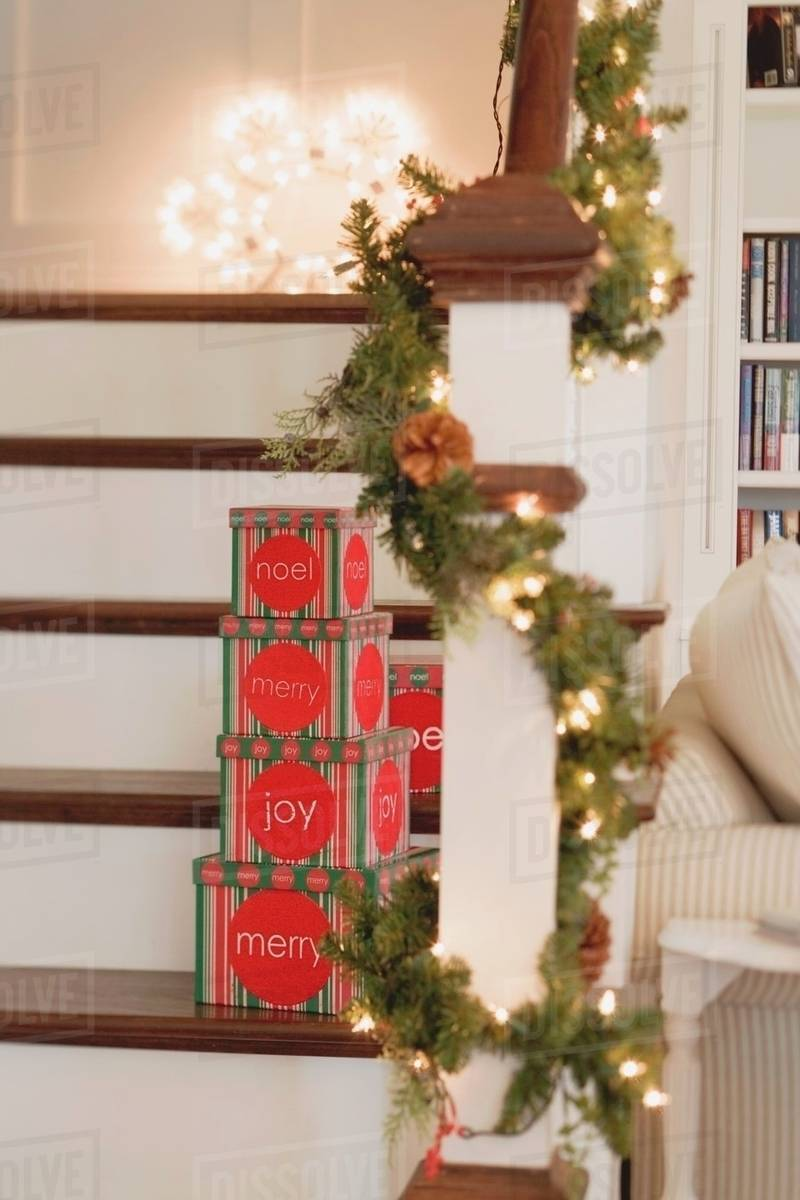 """Image result for photos of UP STAIRS IN HOME WITH CHRISTMAS DECORATIONS"""""""