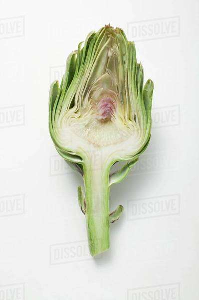 Half an artichoke (overhead view) Royalty-free stock photo
