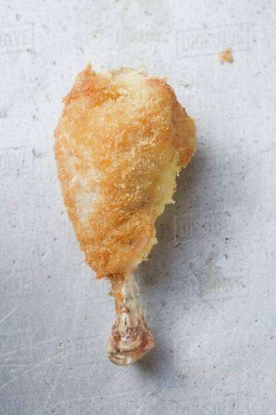 Breaded chicken leg Royalty-free stock photo