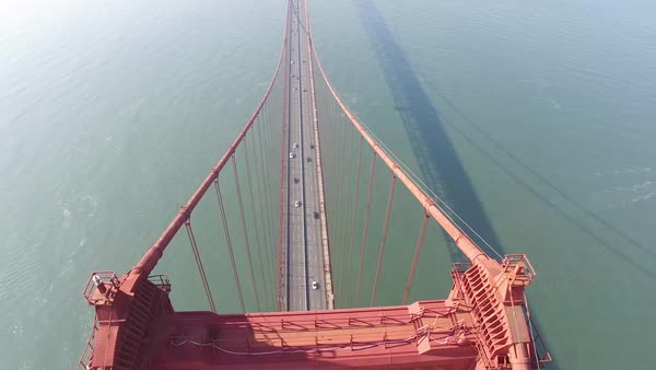 Aerial video of the San Francisco Golden Gate Bridge Royalty-free stock video