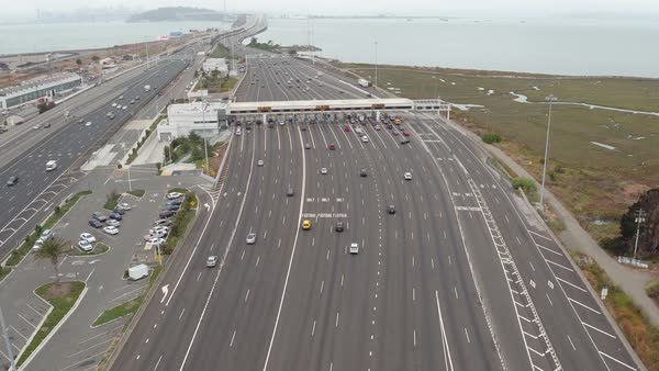 Aerial shot of a highway in Oakland Royalty-free stock video