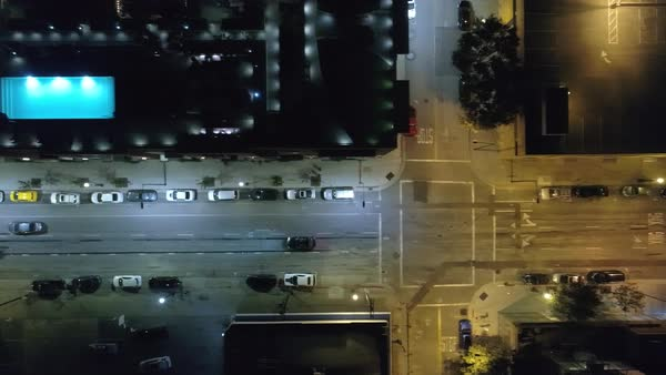 Aerial shot of a car driving on a street in San Jose Royalty-free stock video
