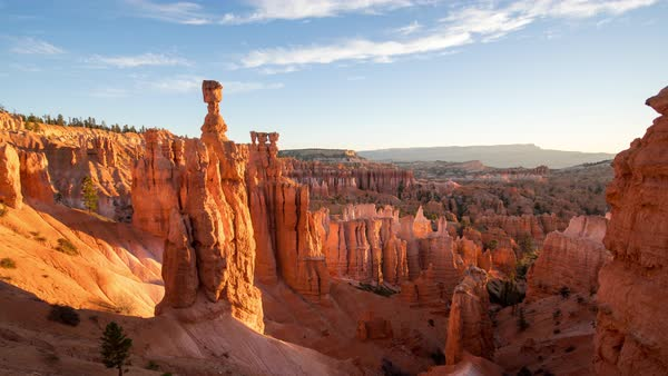 Sunrise timelapse in Bryce Canyon Utah as the sun glows on the rocks. Royalty-free stock video