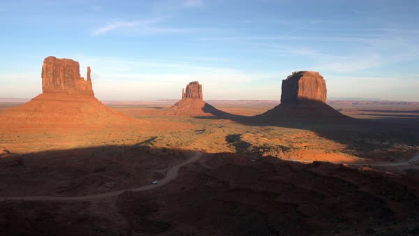 Panning view of Monument Valley Royalty-free stock video