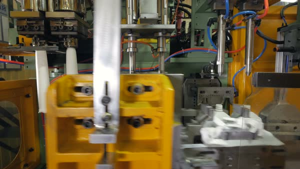 9ff321b7ae Automatic machine for producing PET bottles at a modern factory. Royalty-free  stock video