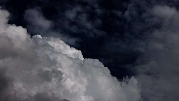 Dramatic glowing cloud before the storm, rising, light reflections Royalty-free stock video