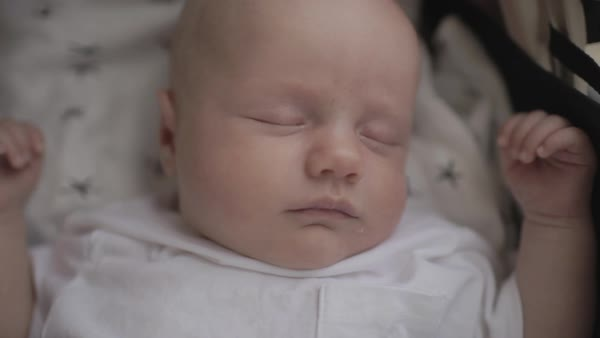 Hand-held shot of a sleeping baby Royalty-free stock video