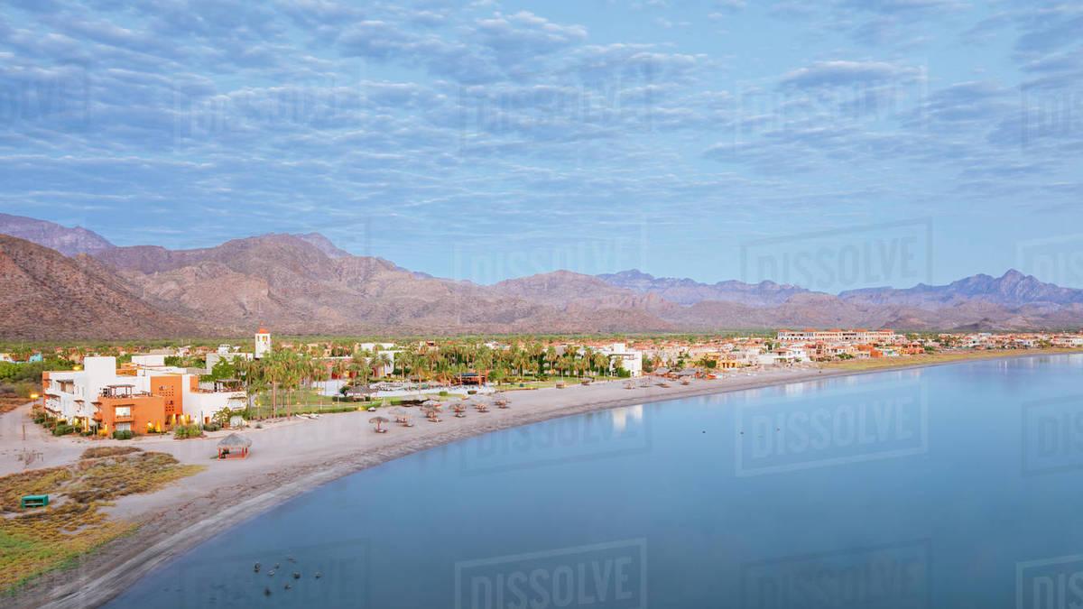 Beach With Buildings Loreto Baja California Sur Mexico