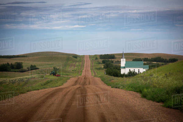 A Rural Church Along A Country Road Near Endiang, Alberta, Canada Royalty-free stock photo