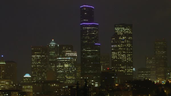 Static shot of Columbia Center in Seattle Rights-managed stock video