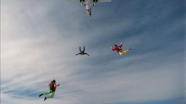 Skydivers Rights-managed stock video