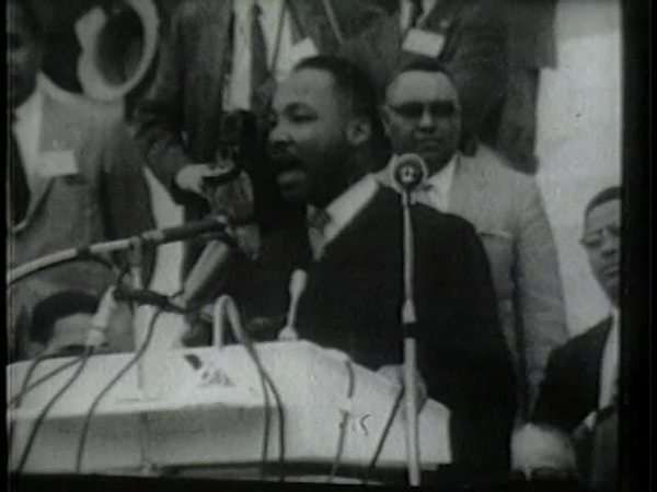 Martin Luther King Jr Gives Speech About Civil Rights Stock Video