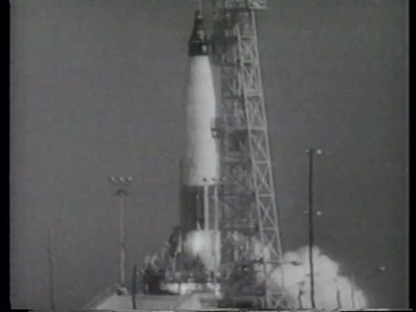 Montage of Mercury spacecraft being launched Rights-managed stock video