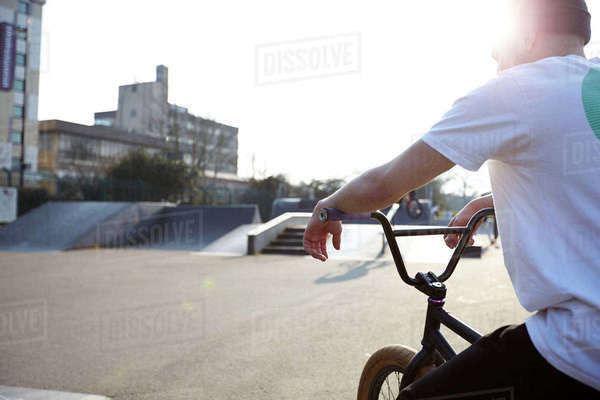 Rider on bmx bike Royalty-free stock photo