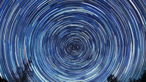 Star tracks. Fisheye. Timelapse Royalty-free stock video