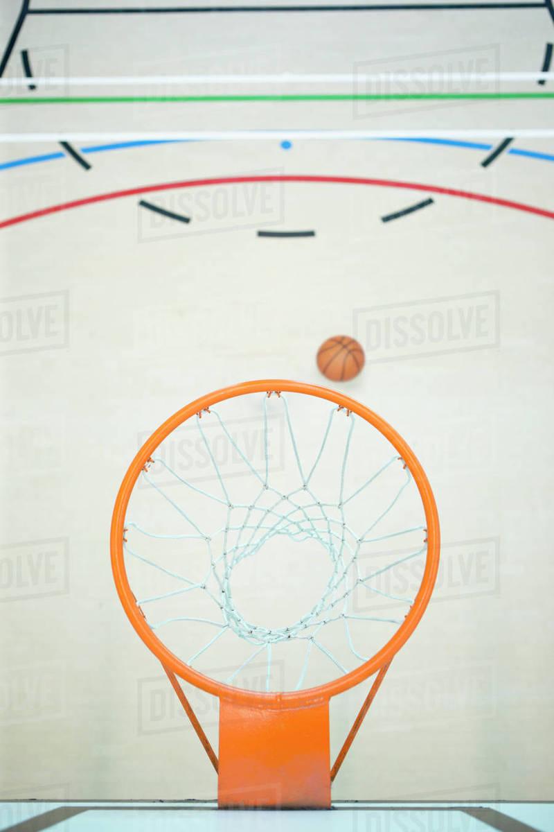 Basketball Below Hoop In Gym Stock Photo Dissolve Diagram