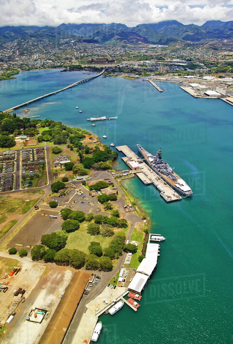Pearl Harbor Oahu >> Hawaii Oahu Pearl Harbor Aerial View Of The Uss Arizona D1234 4 910