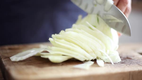 Woman cutting fennel bulb Royalty-free stock video