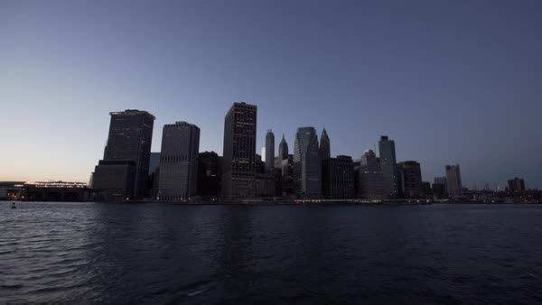 Waterfront skyscrapers in Downtown Manhattan, New York City, New York, USA Royalty-free stock video