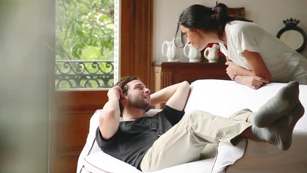 Couple relaxing at home Royalty-free stock video