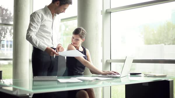 Colleagues working together in office Royalty-free stock video