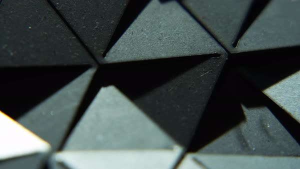 Macro shot of triangles Royalty-free stock video