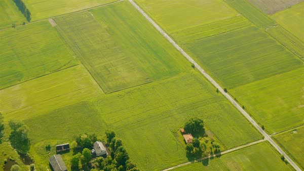 Countryside aerial view Royalty-free stock video