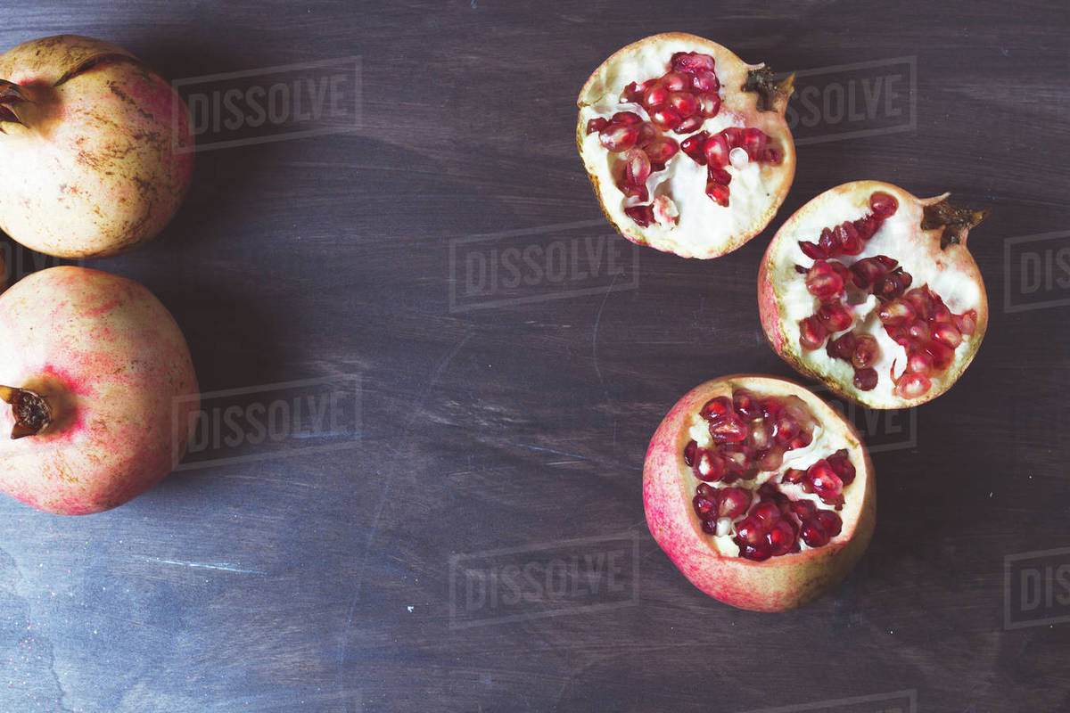 Still life of the fruit called pomegranate for advertising on posters Royalty-free stock photo