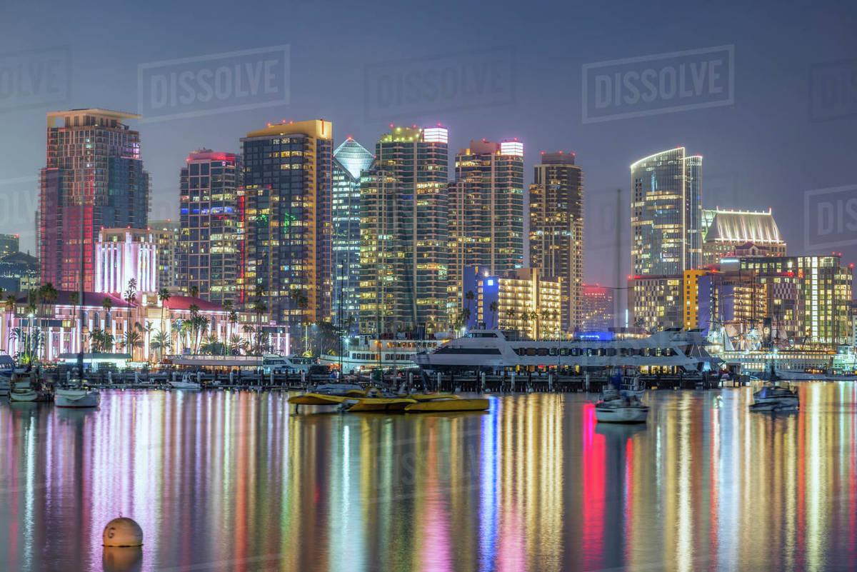 San Diego Skyline & San Diego Harbor Royalty-free stock photo