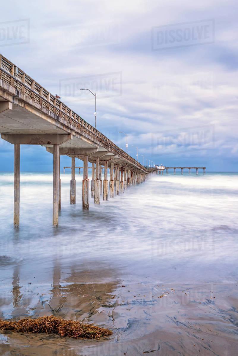 Ocean Beach Pier on a December morning. Royalty-free stock photo