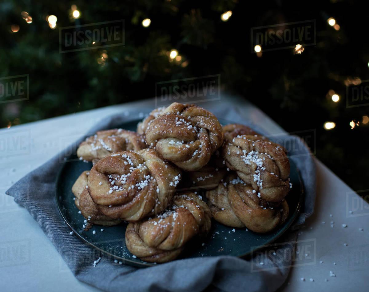 Kanalbullar, Swedish buns, swedish baking Royalty-free stock photo