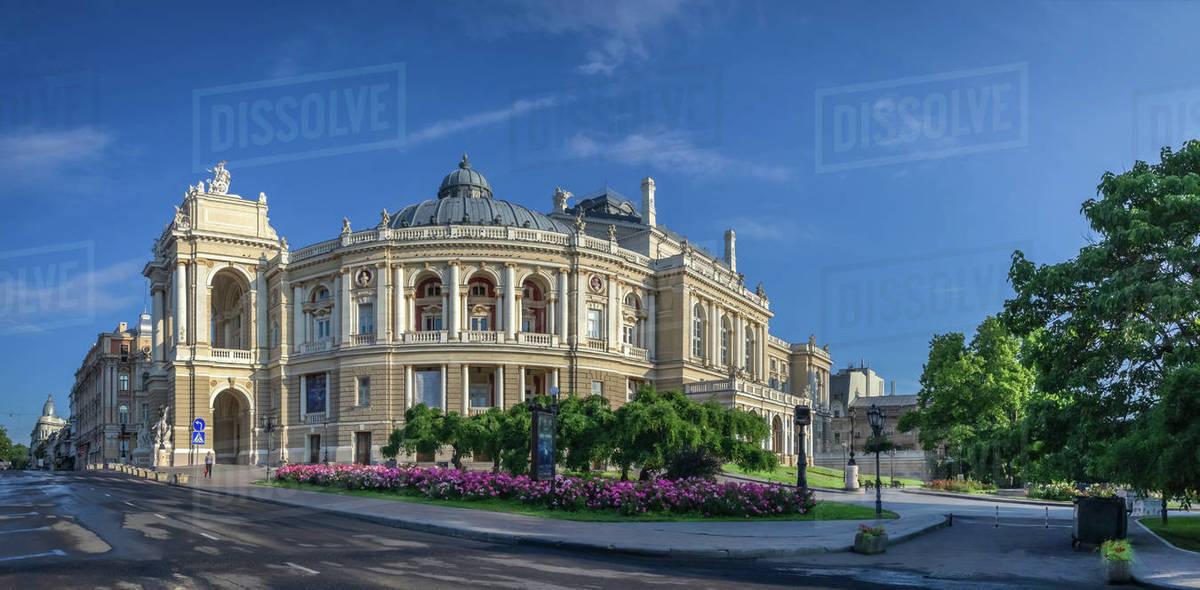 Odessa Opera Theatre Royalty-free stock photo