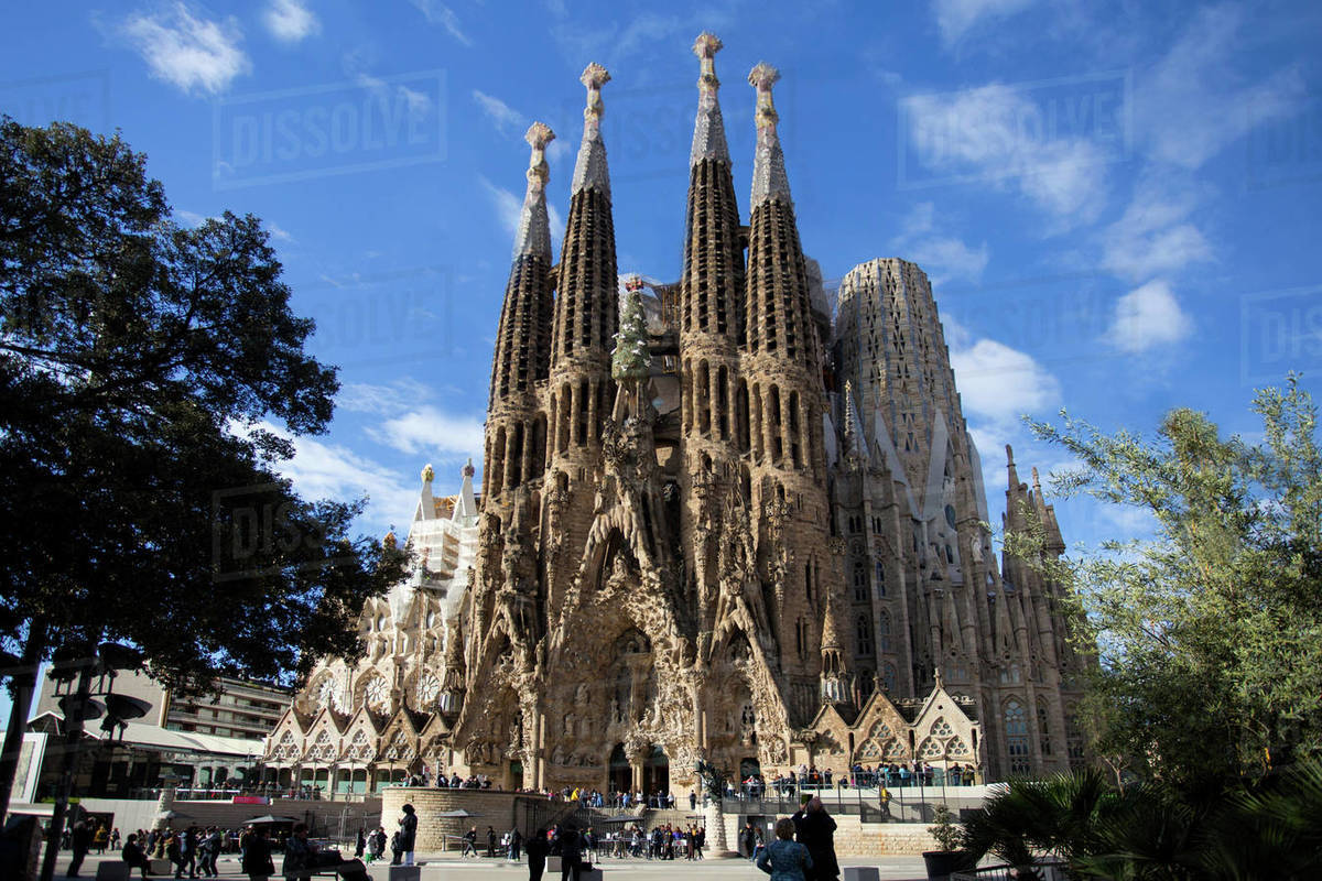Sagrada Familia Church in Barcelona Royalty-free stock photo