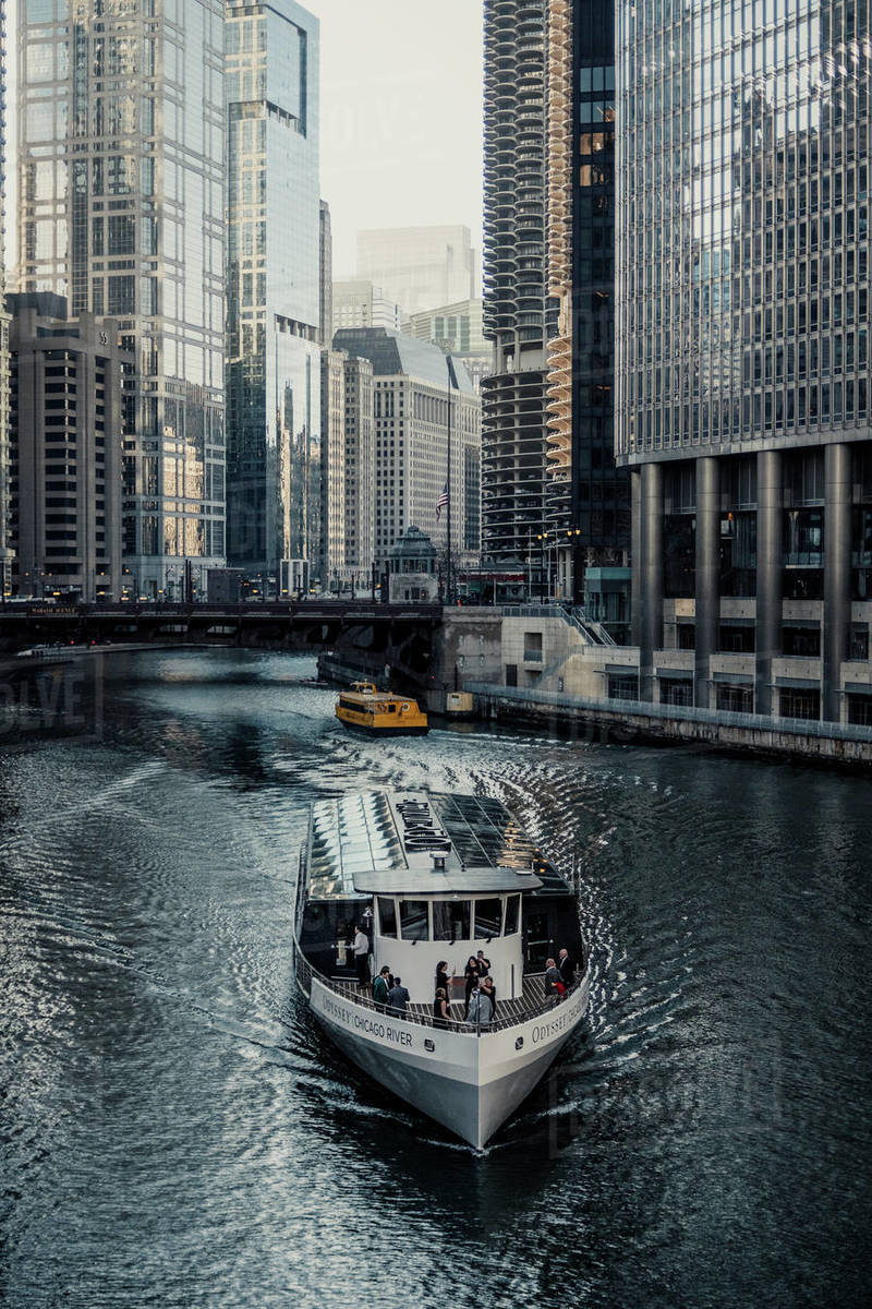 Chicago River Walk Royalty-free stock photo