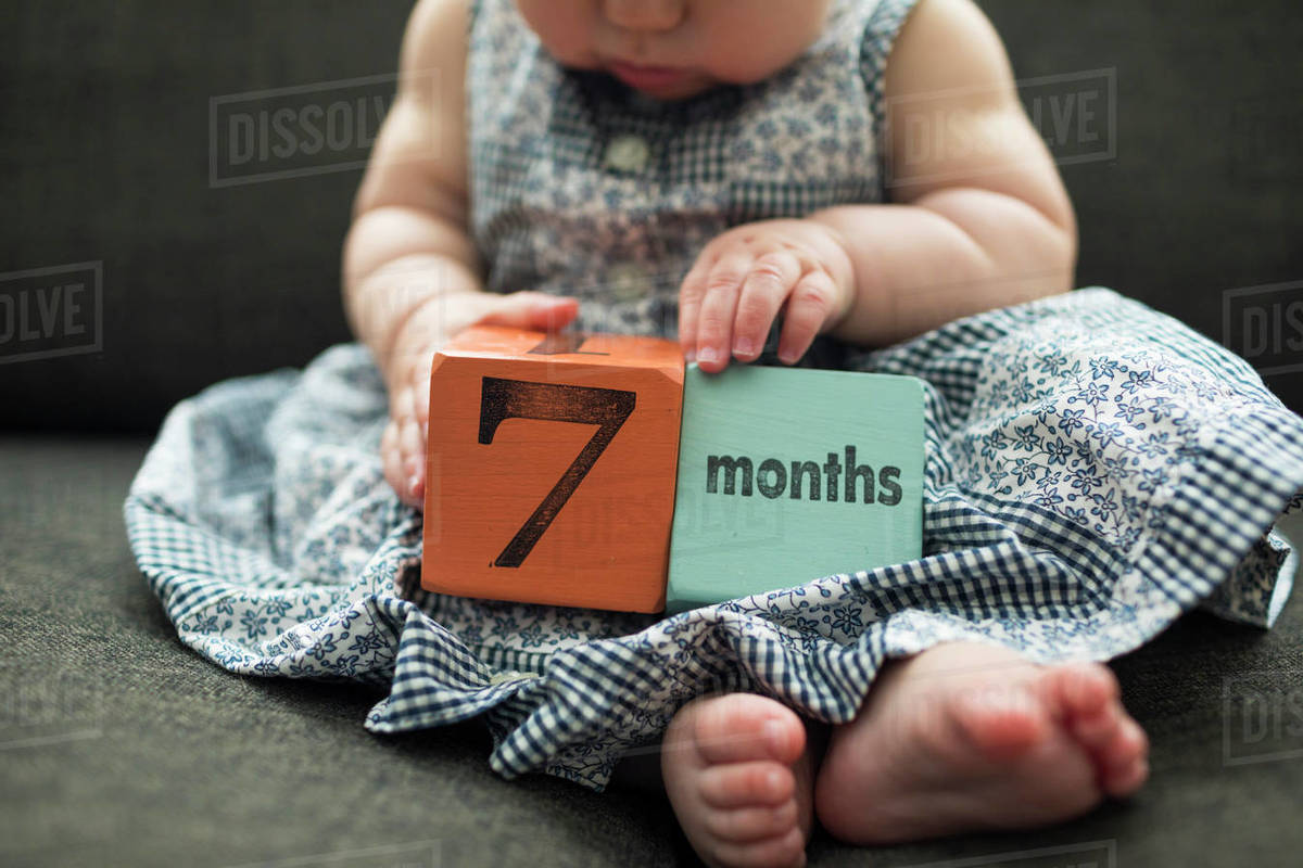 7 months old baby Royalty-free stock photo