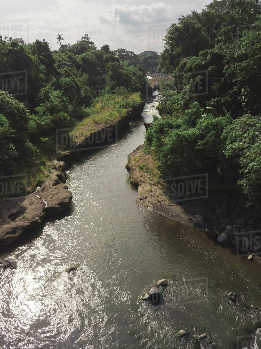 Aerial view of river Royalty-free stock photo
