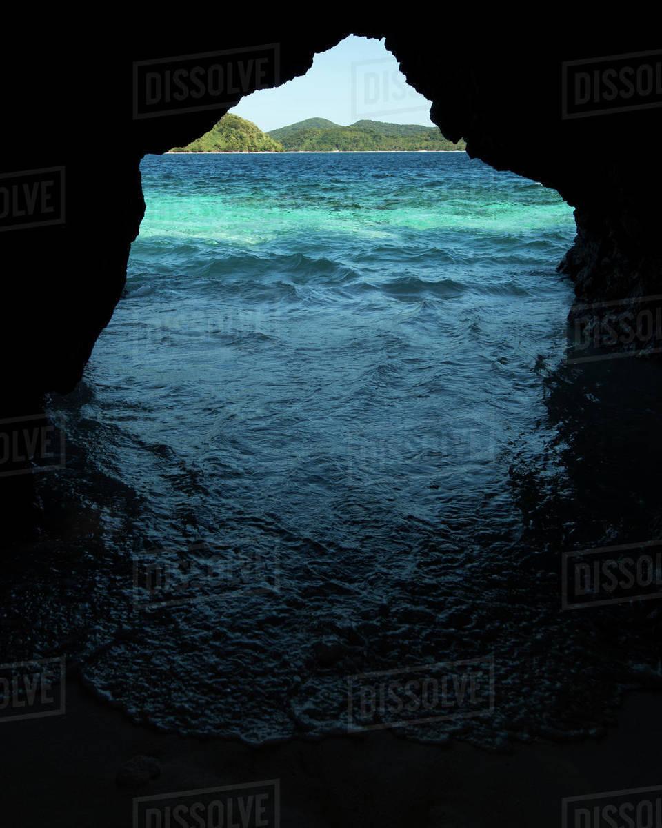 Beach Cave Royalty-free stock photo