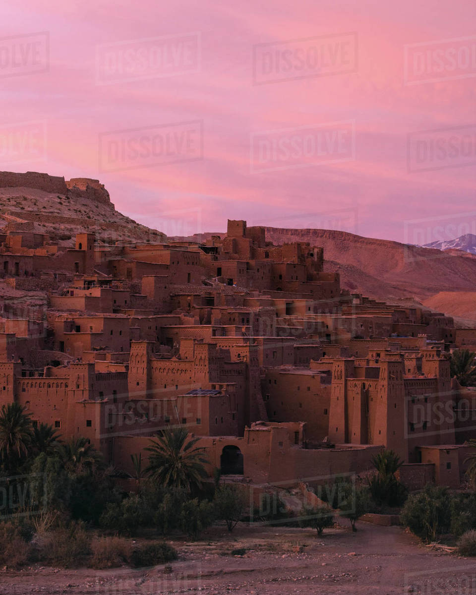 Ait benhaddou sunset Royalty-free stock photo