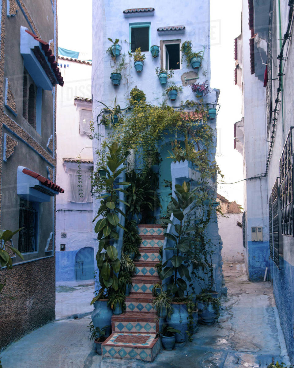 Chefchaouen house Royalty-free stock photo