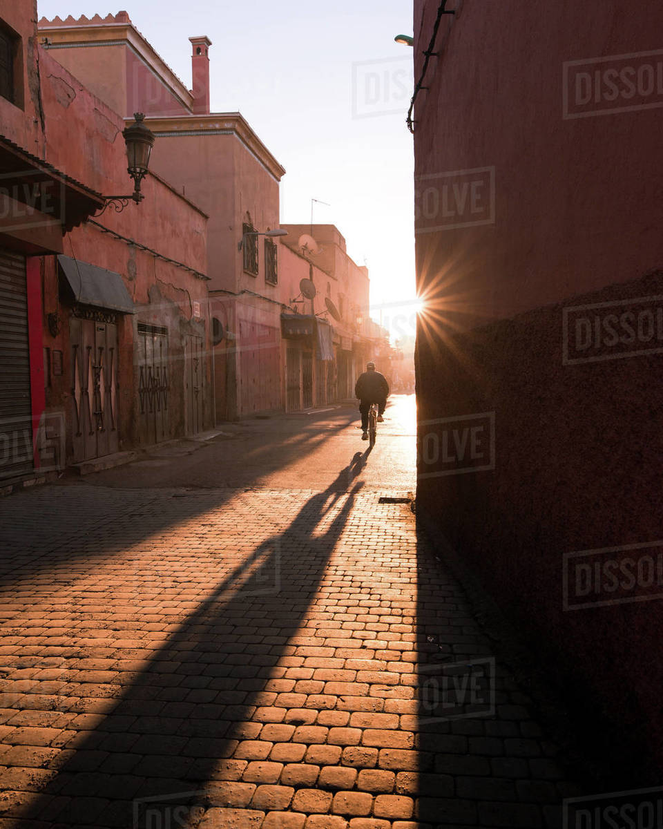 Marrakech Biker Royalty-free stock photo