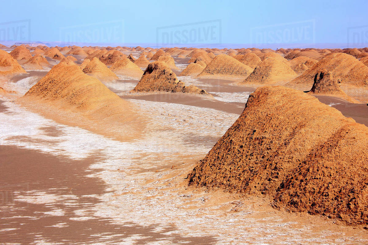 The Kaluts region of the Lut desert. The hottest place on earth. Iran Royalty-free stock photo