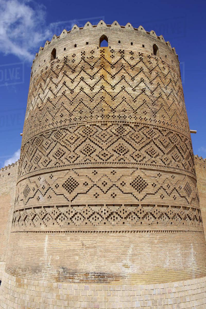 Arg-e Karim Khan Citadel tower, Fars Province, Shiraz, Iran Royalty-free stock photo