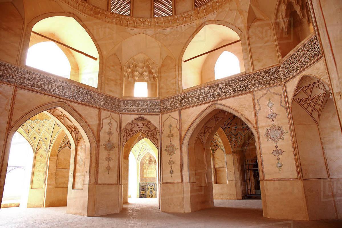 Iran Kashan Isfahan, province, city, Friday mosque Royalty-free stock photo