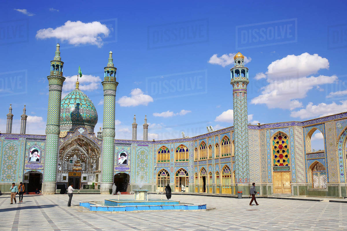The Shrine of Hilal ibn Ali (also known as the Imam Zadeh Mohammad Al Awsat), Kashan, Iran Royalty-free stock photo