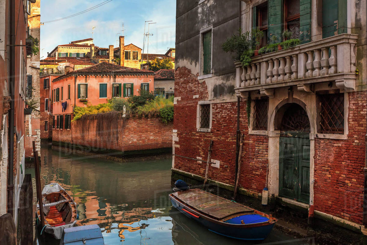 River street in Venice Royalty-free stock photo