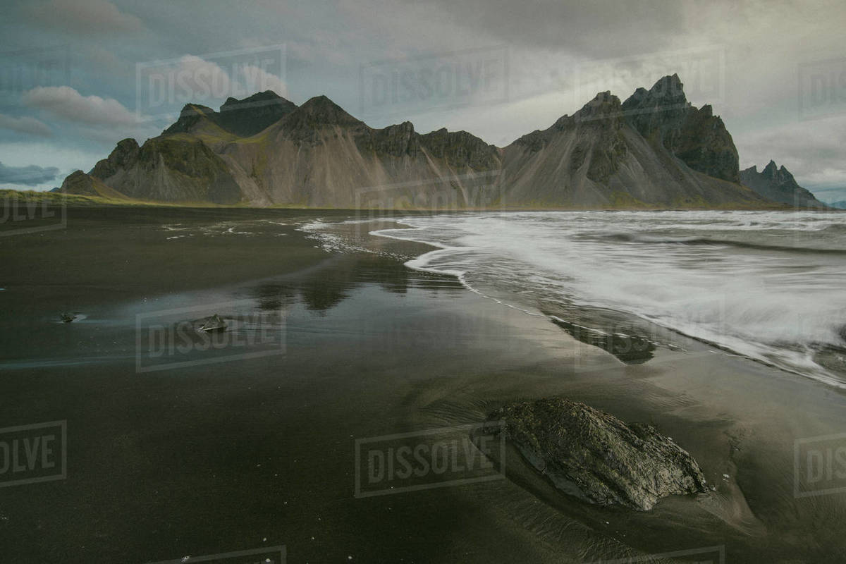 Stokksness in Vestrahorn, Iceland Royalty-free stock photo